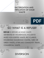 Characterization and Quantification of Solid Waste