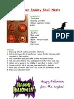 Halloween Spooky Skull Nests