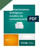 Contaminantes Biológicos - Medios de Contaminacion