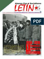 Boletin del Ateneo Paz y Socialismo de noviembre de 2018