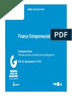 Cours Finance Entrepreneuriale GEM 2018
