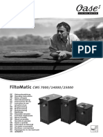 Gebrauchsanleitung Oase FiltoMatic CWS 7000 14000 25000 Teichfilter Durchlauffilter 50906 50910 50925