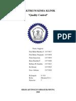 Praktikum Quality Control Kimia Klinik