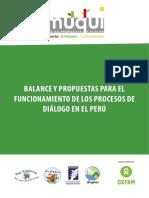 Balance y Propuestas