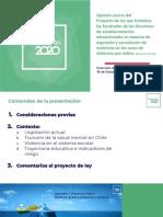 Análisis del Proyecto de Ley Aula Segura, Chile. Educación 2020