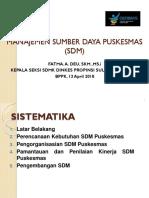 2018 Manajemen Sdm Puskesmas