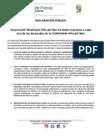 31.10.2018 Declaración Pública Por Paralización Confusam__