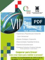 VII Seminario Internacional Desarrollo y Territorio