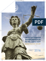 CGE Lack of Gender Transformation in the Judiciary Investigative Report