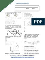 Simulado_Atividade 18 de Matemática Para 6º Ano