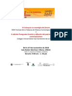 Programa General Del IV Coloquio La Nostalgia Del Futuro. Festival de La Habana de Música Contemporánea. 2018