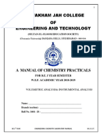 Engineering Chemistry BE-1 Yr,LAB MANUAL 2018-2019(1)