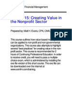 Creating Value in NP Sector[1]