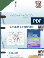 Abdomen Agudo, Universidad Nacional Hermilio 2015