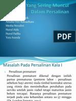 Masalah Yang Sering Muncul Dalam Persalinan.pptx