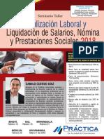 Actualización Laboral, Nómina y Prestaciones Sociales 2018