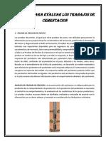 Metodos Para Evaluar Los Trabajos de Cementacion