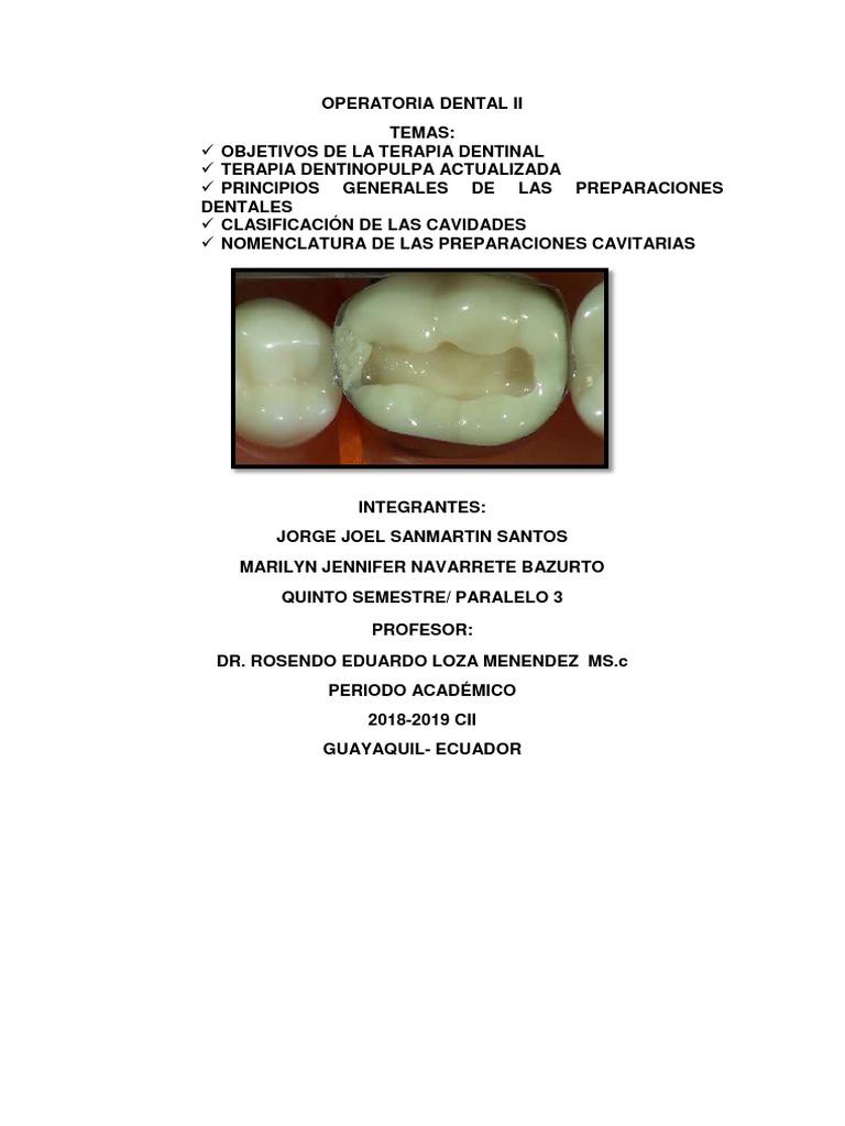 tipos de cavidades dentales segun black