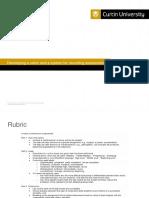 checklist and rubric