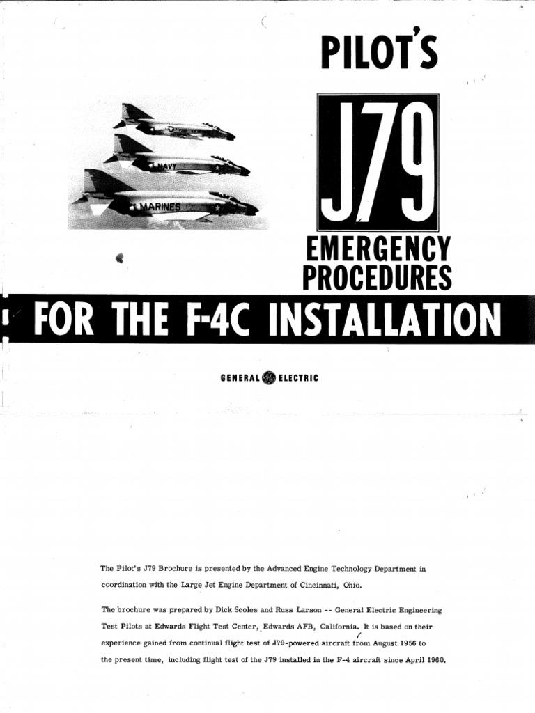 F-4C J79 Pilot Emergency Proceedures