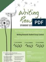 WritingRewardsPoster Print