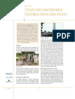 Sélection Méthode de Construction des Puits
