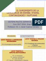 Presentación del tema 2 SISTEMA POLÍTICO ESPAÑOL
