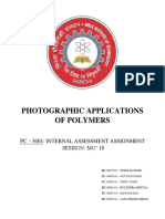 Photographic Applications of Polymers