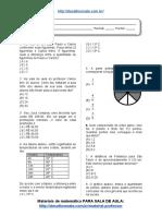 Simulado_Atividade 20 de Matemática Para 6º Ano