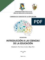 Introducción a las Ciencias de la Educación