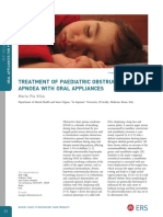 Treatment of Paediatric Obstructive Sleep Apnoea With Oral Appliancesl-Therapy-European-Respiratory-Society