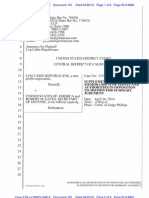 161 - Plaintiffs Supplement to MOTION for Summary Judgment as to Plaintiff's First Amended Complaint - 4-22-2010