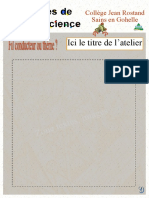 AFFICHES ateliers