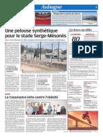 Une pelouse synthétique pour le stade Serge-Mésonès (26/07/18)