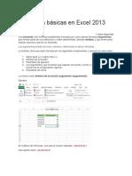 Funciones Básicas en Excel 2013