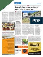 Du mécénat pour restaurer une noria provençale (27/07/18)