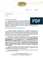 Carta Autoridades - Satipo