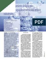 Plantas de Tratamiento de Agua Para Producción de Aguas Desmineralizadas TECNOAMBIENTE ENE 2013