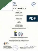 Certificado del AS Solar