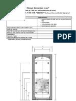 Manual de uso y Montaje de los depósitos de inercia P 1000 SWT