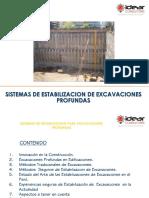 SESION 1 - Sistemas de Estabilización Para Excavaciones Profundas