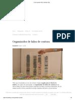 Como Organizar Hilos - Momita's Blog