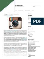 Instagram y Creative Commons – Blog de Antonio Omatos