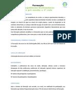 Informação Gerais Workshop Competências Grafomotoras