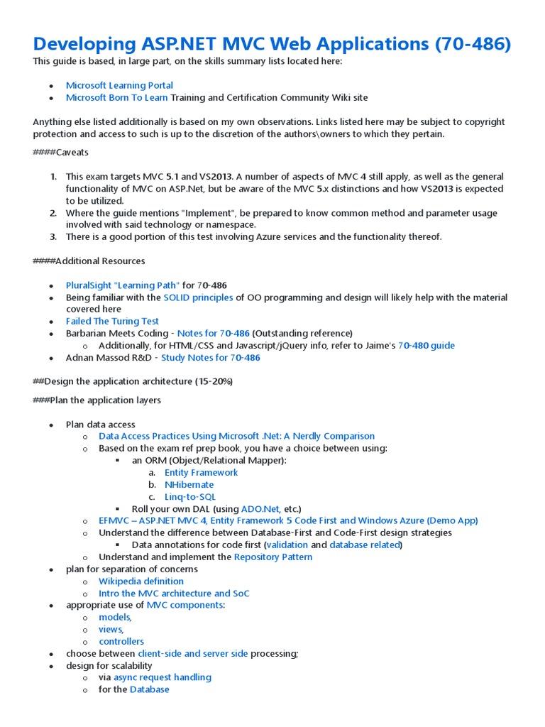 Developing Asp Mvc Web Applications 70 486 Search Engine