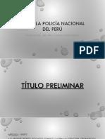 Ley de La Policía Nacional Del Perú