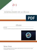 generalidades de la celula