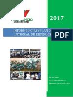 Informe Pgirs 2017 - Plan de Gestion Integral de Residuos Solidos