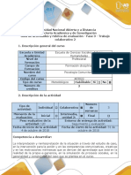 Guía de Actividades y Rúbrica de Evaluación - Fase 3 - Trabajo Colaborativo 2-Profundización