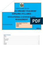 JSS TE Education Leadership and Management Jan3 2016